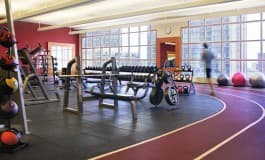 Athletic Club, weight room and track